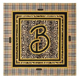 Burberry Leopard Archive Silk Square Scarf